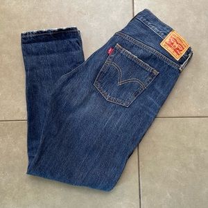 Levi's 501 Straight Leg Button Jeans